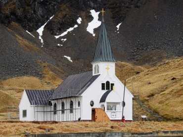 The Lutheran chapel at Grytviken whaling station