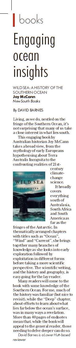 Review in Otago Daily Times, 21.7.18